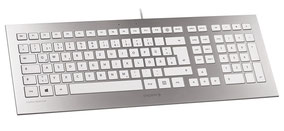 Cherry Strait Corded Keyboard (argent/blanc)