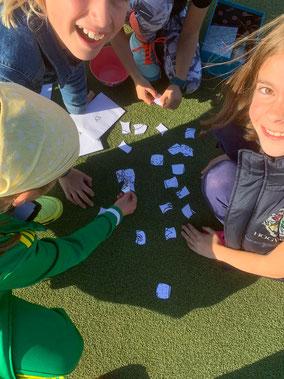 Beim Escape-Spiel mussten die U10-Mädchen verschiedene Aufgaben erfüllen.