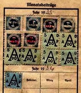 Socialdemokratisk medlemskort 1933/34