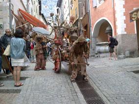 En pleine fête médiévale...
