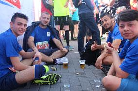 famila-Lauf 2017 - nach dem Ziel - natürlich alkoholfrei :-)