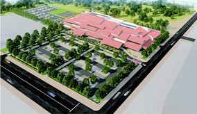 新庁舎の完成イメージ図(市ホームページより)