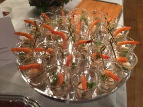 Crevetten Cocktail Shots