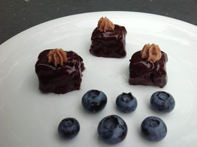 Bourbon-Brownie Petit Fours