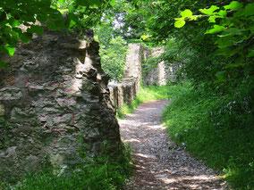 Burgruine, Gemäuer