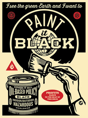Shepard Fairey Paint it Black