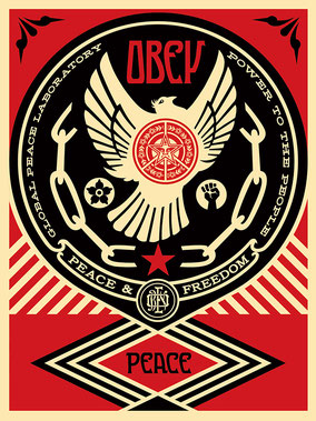 Shepard Fairey Peace and Freedom Dove