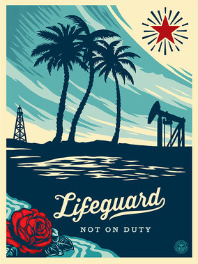 Shepard Fairey Lifeguard not on Duty