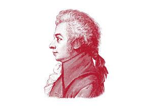 Zeichnung:  Wolfgang Amadeus Mozart