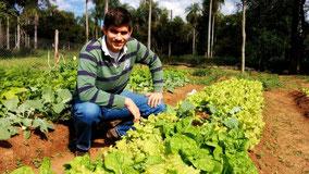 Reiner Riensberg und sein Gemüse-Garten
