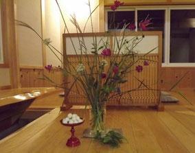 真の日本料理「美菜ガルテンふるかわ」お月見団子