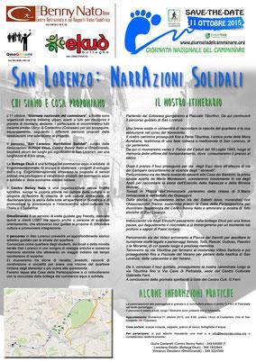 San Lorenzo: NarrAzioni Solidali - La locandina