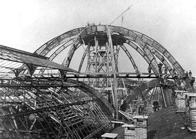 Cupola della Galleria Vittorio Emanuele II in costruzione