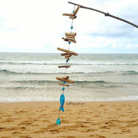 móvil decorativo, decoración con madera, madera de mar, vymcreaciones, driftwood mobile, driftwood art, wood, eco desing, decoración ecológica, asturias, asturias paraiso natural, artesania asturias,