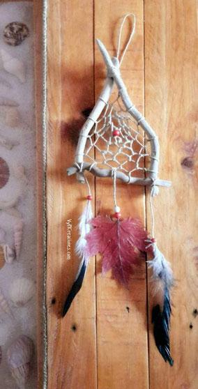 madera de mar, vymcreaciones, vymcreaciones.com, atrapasueños, guardian de sueños, decoracion etnica, decoración con palos