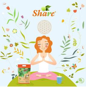 Fermentierte Share Pflaume Frau wird von Frucht inspiriert