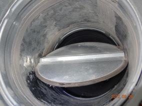Lüftungsrohr mi Brandschutzklappe  nach der Reinigung