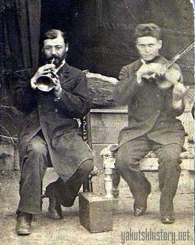 Самуил и Моисей Горовацкие, отец и сын. Витим, 1889 г.