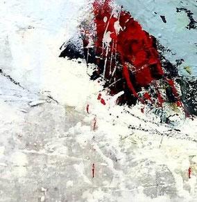"""SERIE 15/15 cm - """"Advantage life 02"""" - Acryl auf festem Papier hinter Passepartout/ Gesamtformat 30 x 30 cm"""