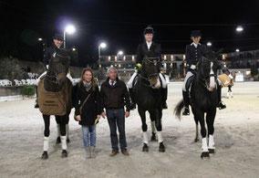Siegerin und Platzierte der Altersgruppe 'Reiter'