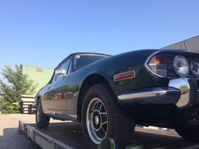 Triumph Stag Cabrio, Unterbodenschutz entfernen, Restaurierung