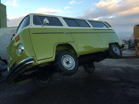 VW Bus T2, Bus T2b, Unterbodenschutz Entfernung,