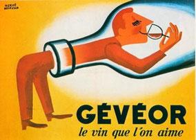Publicité pour le vin Gévéor