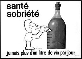 Santé sobriété : jamais plus d'un litre de vin par jour