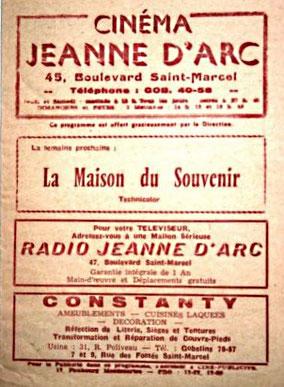 Programme du Jeanne d'Arc