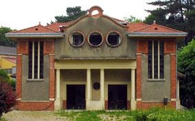 Petit théatre du sanatorium de Bligny conçu pour accueillir des patients alités