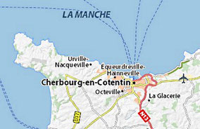 L'aéroport à l'est de Cherbourg
