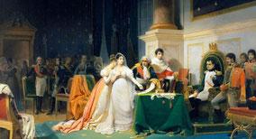 Divorce de Napoléon et de Joséphine en 1809 sur la base du code civil édicté en 1804 et peu modifié jusqu'en 1975