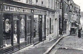 Singer à L'Aigle (Orne) dans les années 1900