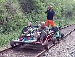 Vélo-rail à moteur sur la ligne Caen-Flers
