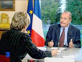 Jacques Chirac interrogé par Elise Lucet
