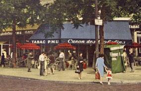 Le kiosque du Canon des Gobelins vers 1955