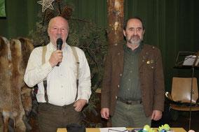 Züchter Josef Siedler (links) und LO DJT Club Tirol WM Ludwig Haaser (rechts)