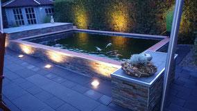 Teich mit externer Beleuchtung in Ibbenbüren - Laggenbeck