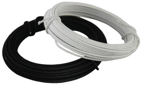 millinery wire, black & white, cotton covered, diameter 0,8-1,2 mm