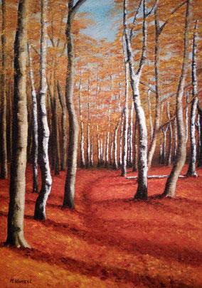 Küstenwald im Herbst, 2016, 50 x 70 cm