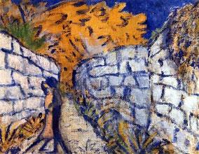 Amantes entre los muros del jardín, Otto Mueller