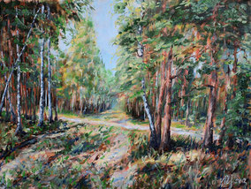 Forest clearing. Oil on cardboard, 30cmx40cm. 12-2012