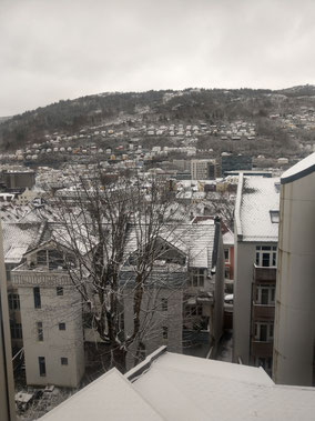 Bergen im Schnee