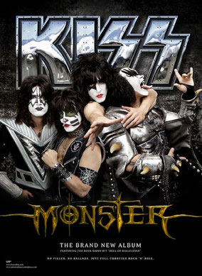 KISS MONSTER TRACK LIST
