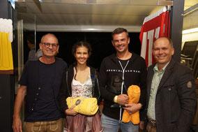 Vereinsmeister Alina und Alex mit BGM. Peter Neier und GV Ewald Frei