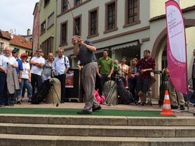 Abschlag zum Turnierstart des Oberbürgermeisters Franz Schaidhammer - © Claudio Orlik