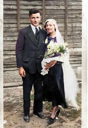 Paul Nocus et Jeanne Prudhomme, Saint-Dizier (52), le dimanche 30 juin 1935