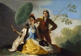 "Tableau ""Le Parasol"" de Francisco de Goya"