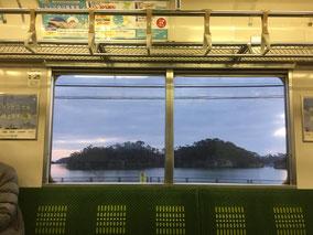 仙石線205系から見る東塩釜―陸前浜田間の車窓