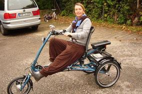 Sportliches Dreirad fahren